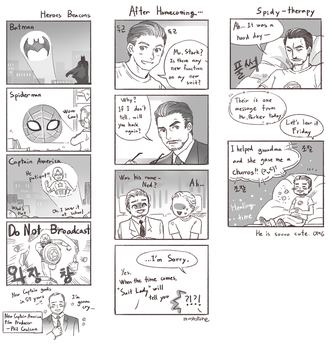 Spider Man: Homecoming (*** spoiler alert) by Mushstone