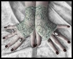 Amelia Lace Fingerless Gloves by ZenAndCoffee