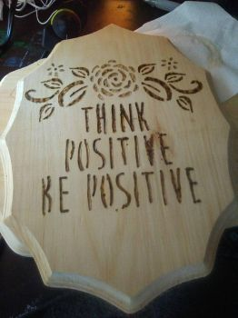 think positive be positive by RedRoseArt18