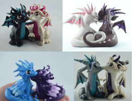custom dragon couples by claymeeples