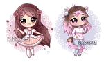 [C] cupcake chibi batch ~ [ +SPEEDPAINT ] by PennyGEM