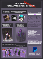 Emergency Commission List! - Please help! by Vampexx