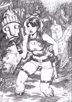 Lara Croft by Deilson