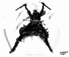 Speedpainting Black and  White by benedickbana