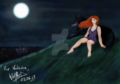 Under the moon spell by BlackWolflord666