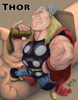 Thor By Maxwell Duarte Digital Painting by madmaxsol