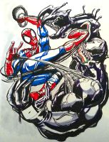 Spidey vs Venom by shiphfwd