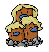 Shiny Alolan Dugtrio - Type Collab by Lost-Paperclip