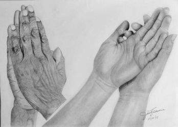 Hands Drawing by JuvyArtCreation