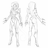 Warframe Fanconcept Vyper, Rework wip by N4n0-1805