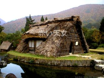 Japanese thatch barn by AkaiTennyo