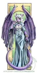 Purple Gargoyle Gal by lady-cybercat