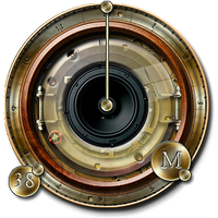 Steampunk-speaker icon in all formats by yereverluvinuncleber