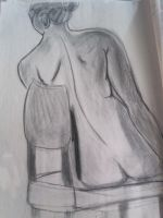 Sitting female by Azro