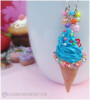 :: Blue Ice Cream necklace :: by decoland