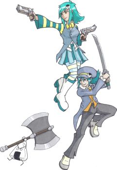 Casey Corey and Mr. Riceball by Gir-the-piggy-lord