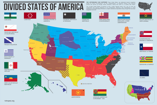 Divided States of America by ThaDrummer