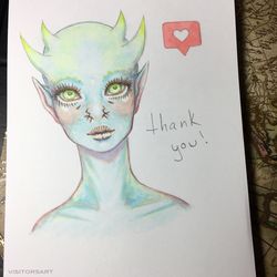 thank you! by visitorsart