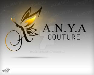 A.N.Y.A Couture Logo Design by LaxDesign