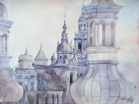 Roofs of Cracow by your-confusion