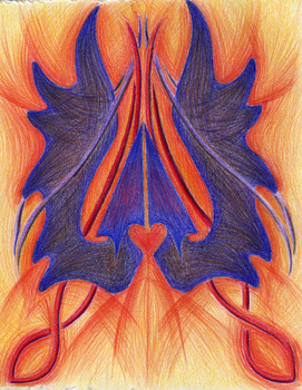 Symbol - Abstract Drawing by kittyq