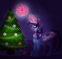 Decorating the Tree by RavenSunArt