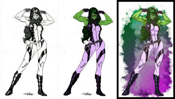 She-Hulk walk preview by dwa-cztery