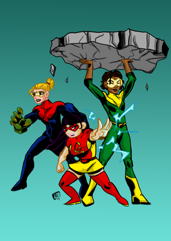The Gamma Gals Colored by ffnb