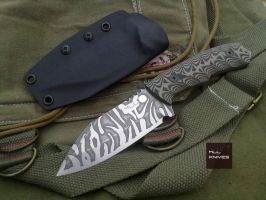 Cathal - N690 Stainless - Tiger Pattern by MLLKnives