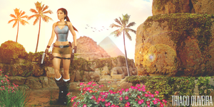Lara Croft - The Oasis by TheDenovan
