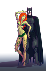 Poison Ivy + Batman by Mercvtio