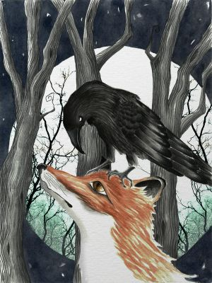 The-fox-and-the-raven by 222maya