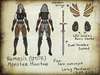 Nemesis SMITE Monster Hunter by LazyMadness