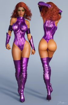 Character Reference Starfire v2 by tiangtam