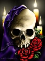 Candles and skull by Ogra-the-Gob
