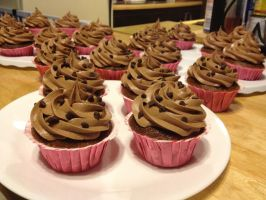 Chocolate Cuppycakes by Deathbypuddle