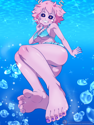 Mina Ashido Swimsuit by MeteorREB0RN