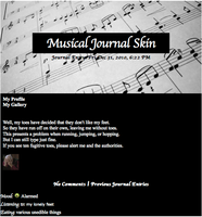 Musical Journal Skin by EmiHerro