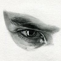 Ben Barnes Eye Drawing by nataliebeth