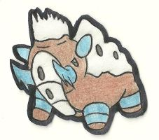 Fakemon_Fossil_Mammoth by kalixto-94