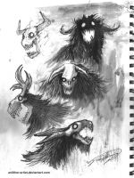 Sketches - More Demons by an0ther-artist