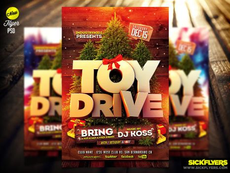 Toy Drive Flyer Template psd by Industrykidz