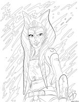 Coloring Pages - Ahsoka Tano by RCBrock
