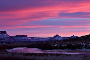 Last Light over the Colorado by papatheo