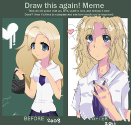 Draw This Again Meme by GoldenPineappleTree