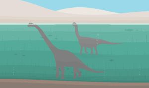 Water walking sauropods by cephalopodomorphist