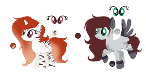 l + Commission 1/2 + l Pone refs by Mintoria