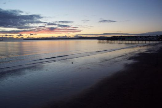 Sunrise at Paignton Beach by asthecrowflies