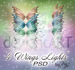 4 Wings Lights PSD by MLauviah
