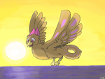 Laupin's Commission: Sunset Flight by SammfeatBlueheart